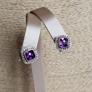 David Yurman Albion Amethyst Diamond Earrings